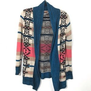 3/$25 Belldini Southwestern Print Cardigan Sweater